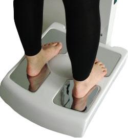 body composition analysis feet electrode