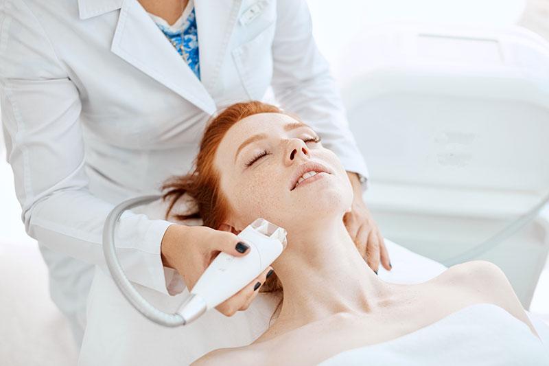 skin tightening facial treatment demo