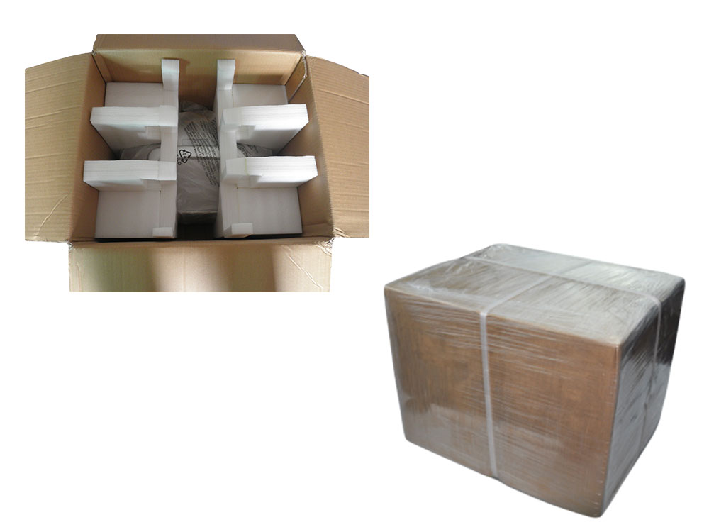 Carton package with sponge protection
