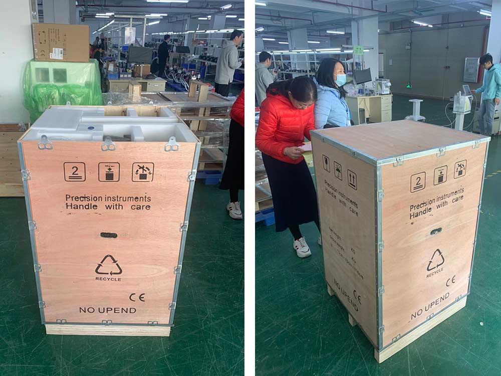 emsculpt hi-emt machine packing process