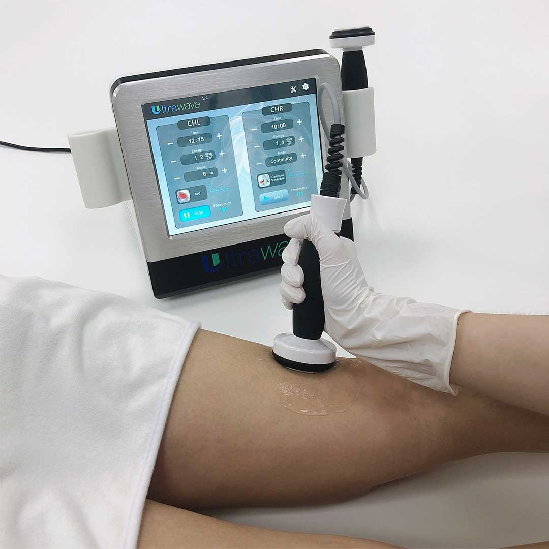 operation demo of therapeutic ultrasound machine